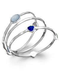 INC International Concepts | Charter Club Silver-tone Blue Stone Bangle Bracelet Set | Lyst