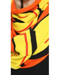 Moschino - Orange Scarf - Red - Lyst