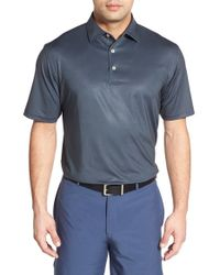 Peter Millar Button Up Golf Polo Shirt In Black For Men Lyst