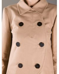 Carven Natural Double Breasted Mac