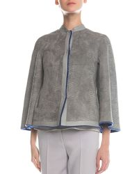 Giorgio Armani | Multicolor Reversible Shearling Fur & Snake-Stamped Jacket | Lyst