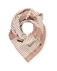 Forever 21 | Brown Frayed Stripe-patterned Scarf | Lyst