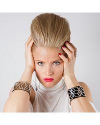 Anna Byers - Metallic Narrow Perspex Cuff Tinted Grey & Silver - Lyst