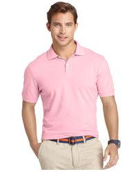 Izod - Pink Premium Pique Polo Shirt for Men - Lyst