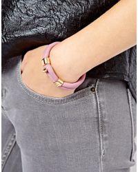 Tokyo Jane - Purple Daisy Twin Leather Bracelet - Lyst