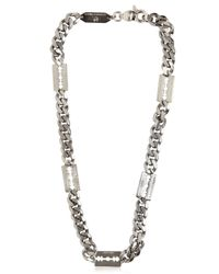 McQ | Metallic Chunky Chain Razor Blade Necklace | Lyst