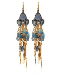 Alexis Bittar | Metallic Goldtone Labradorite Dark Phoenix Tassel Earrings | Lyst