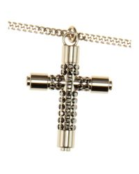 Givenchy Metallic Cross Necklace