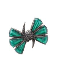Stephen Webster | Black Forget Me Knot Bow Ring | Lyst