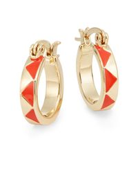 House of Harlow 1960 | Orange Triangle Hoop Earrings/0.75"