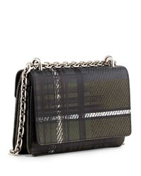 Prada Green Tartan-Plaid Leather Shoulder Bag