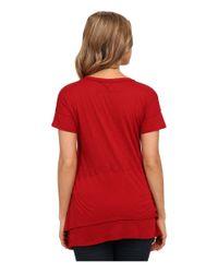 Splendid | Red Slub Jersey Swing Tee | Lyst
