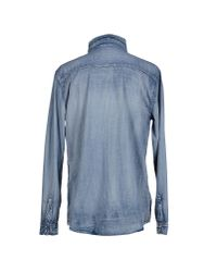 One Teaspoon - Blue Denim Shirt for Men - Lyst