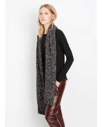 VINCE | Black Speckled Cotton-blend Knit Scarf | Lyst