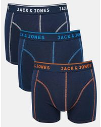 Jack & Jones | Blue 3 Pack Trunks for Men | Lyst