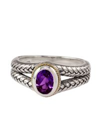 Lord & Taylor - Metallic Balissima Sterling Silver And 18kt Yellow Gold Ring With Amethyst Stone - Lyst