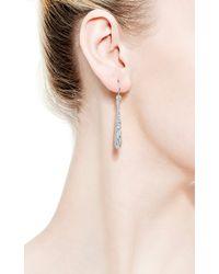 Kwiat | Metallic Cobblestone White Diamond Drop Earrings in 18k White Gold | Lyst