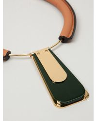 Marni | Green Graphic Enamel Necklace | Lyst