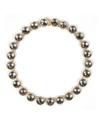 Larkspur & Hawk | Black Olivia Button Riviere Necklace | Lyst