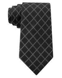 DKNY | Black Graphic Grid Slim Tie for Men | Lyst