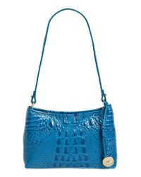 Brahmin | Blue Anytime Mini Embossed-Leather Bag  | Lyst