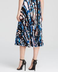 Elizabeth and James Multicolor Caident Silk Midi Skirt