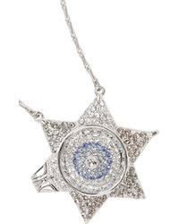 Eddie Borgo | Metallic Silvertone Crystal Necklace | Lyst