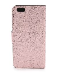 kate spade new york | Pink Glitter Bug Iphone 6 Plus Folio - Silver/gold/rose Gold | Lyst