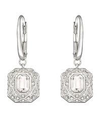 Swarovski - Metallic Sophisticated Crystal Earrings - Lyst