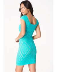 Bebe Blue Tribeca Lace Dress