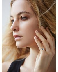 Free People | Metallic Redwolf Womens Stamped Vibes Pinky Ring | Lyst