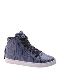 Splendid Gray Sebastian Leather High-top Sneakers