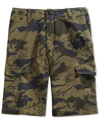 Volcom | Green Men's Field Stone Relaxed Cargo Shorts for Men | Lyst