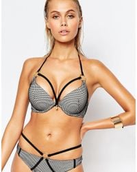 Ann Summers Black Bay Boost Mesh Bikini Top