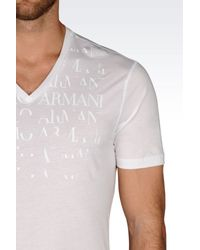 Emporio Armani - White Jersey T-shirt for Men - Lyst