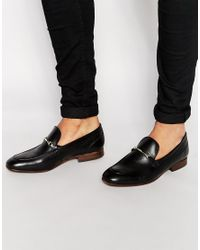 e52b93f2ec0 H by Hudson Navarre Leather Loafers - Black in Black - Lyst