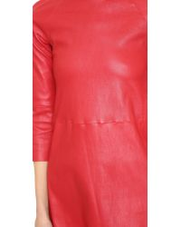 ThePerfext - Red Harlem Leather Dress - Lyst