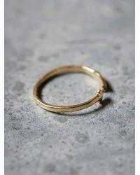 Odette New York - Metallic Diamond Arrow Band Ring - Lyst