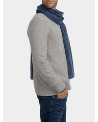 White + Warren - Blue Weathered Cashmere Scarf for Men - Lyst