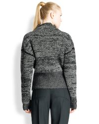 Jil Sander - Black Tweed-Knit Cashmere Sweater - Lyst
