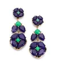 kate spade new york | Green Izu Petals Statement Drop Earrings | Lyst
