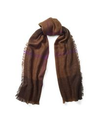 Ralph Lauren | Brown Mohair Plaid Scarf | Lyst