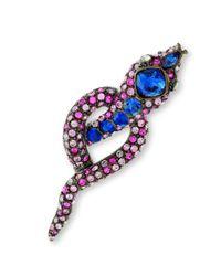 Kenneth Jay Lane | Multicolor Multi Pink Snake Brooch | Lyst