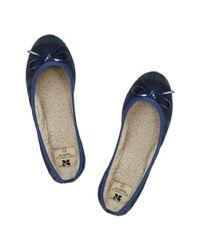 Butterfly Twists Blue Ballerina Shoe
