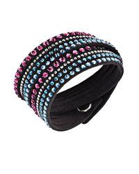 Swarovski | Black Slake Crystal Wrap Bracelet | Lyst