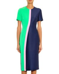 ROKSANDA Blue Braemar Contrast-panel Dress