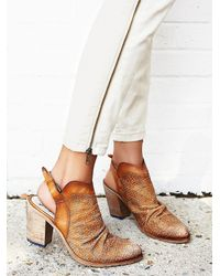 Free People | Brown De Soto Heeled Boot | Lyst