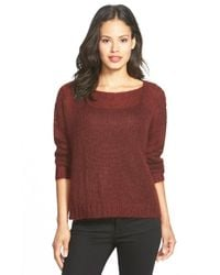 Eileen Fisher Brown Boxy Mohair Blend Sweater