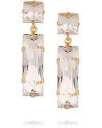 Kenneth Jay Lane - Metallic Gold-plated Crystal Earrings - Lyst