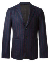 Raf Simons - Blue Pinstripe Blazer for Men - Lyst